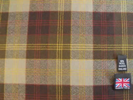 100% Wool-Worsted Plaid Fabric  AC10